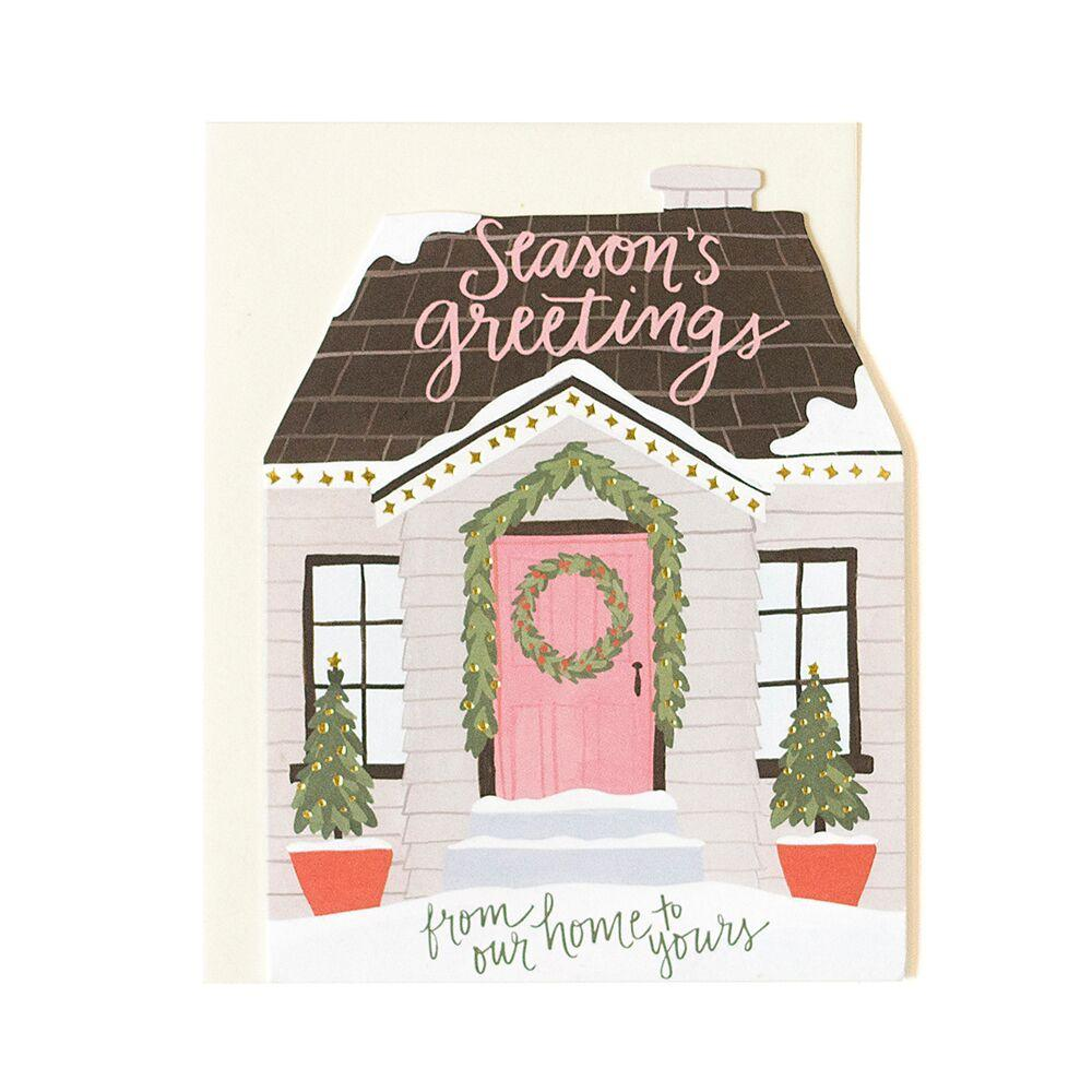 Holiday House Cutout Card
