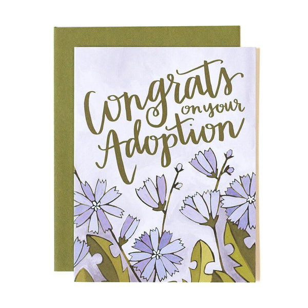 Congrats Adoption Floral Card - Northlight Homestore
