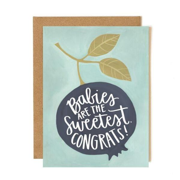 Blueberry Baby Card - Northlight Homestore