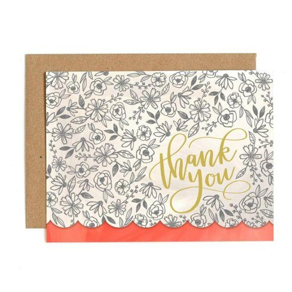 Thank You Flowers Diecut Card - Northlight Homestore