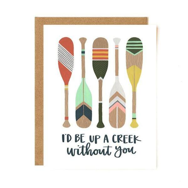 Up A Creek Paddles Card - Northlight Homestore