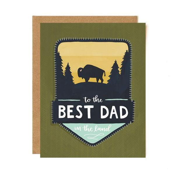 Best Dad Patch Card - Northlight Homestore