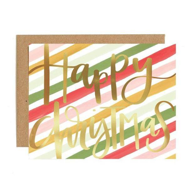 Christmas Stripes Card
