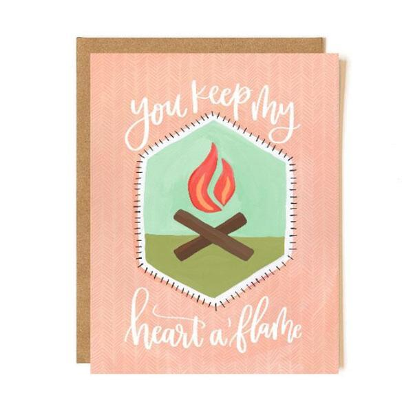 Heart A'flame Patch Card