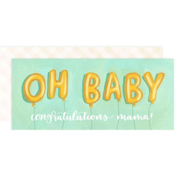 Oh Baby Balloons Card