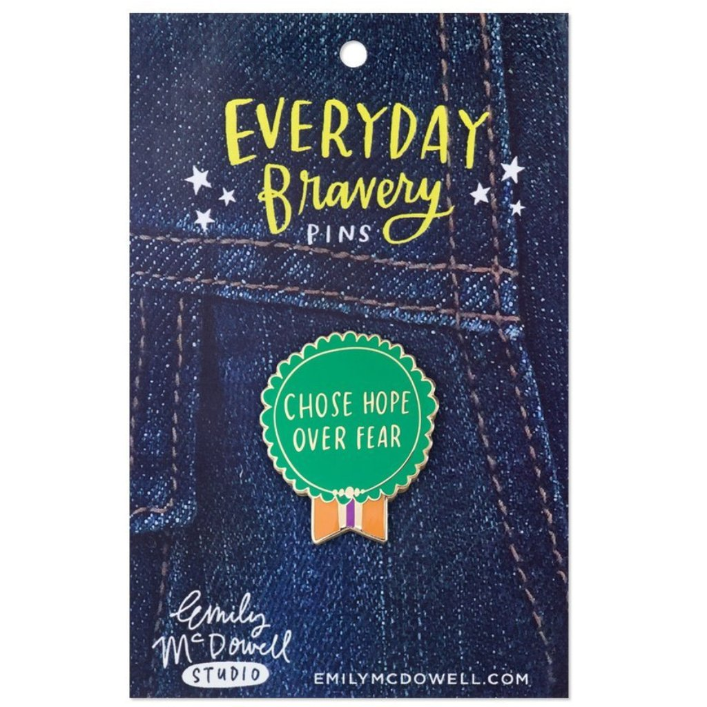 Chose Hope Over Fear Enamel Pin - Northlight Homestore