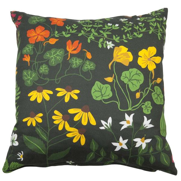 Leksand Green 45x45cm Cotton Cushion