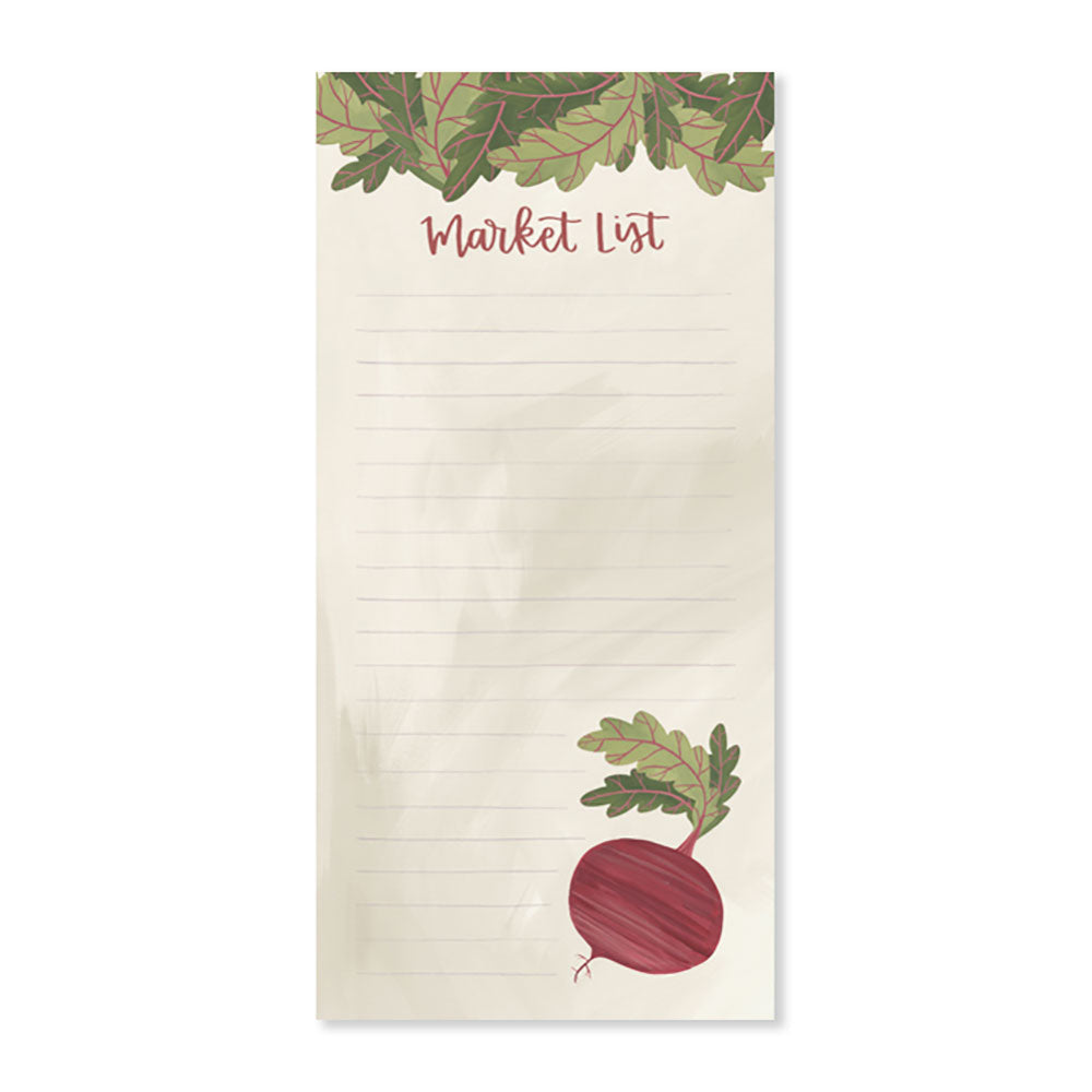 Market List Beets Notepad - Northlight Homestore