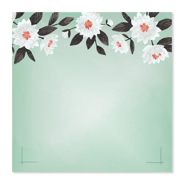 Mint Floral Notepad - Northlight Homestore