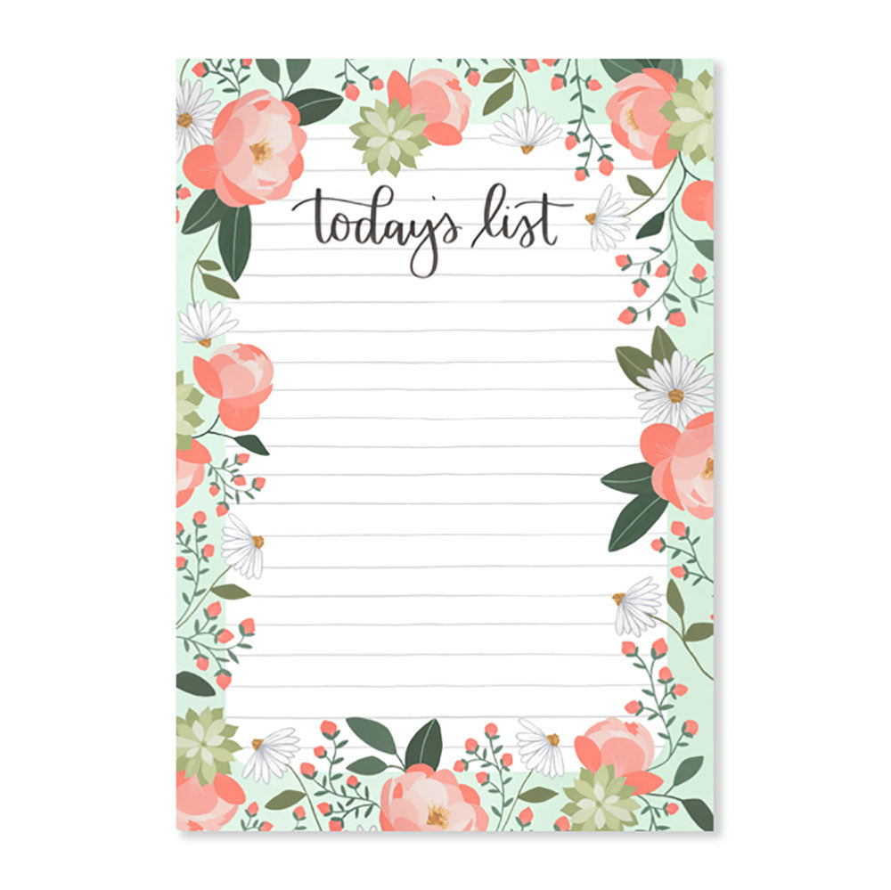 Garden Peony Notepad - Northlight Homestore