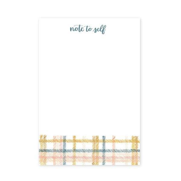 Note To Self Plaid Notepad 20.5cm x 14cm