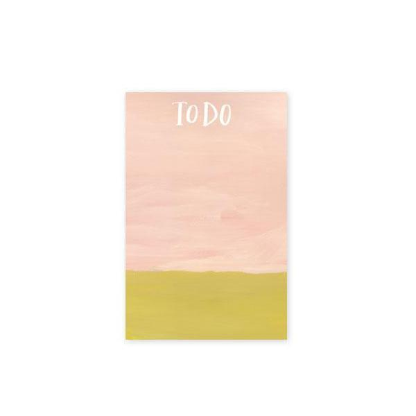 To Do Color Block Notepad 16.6cm x 11cm