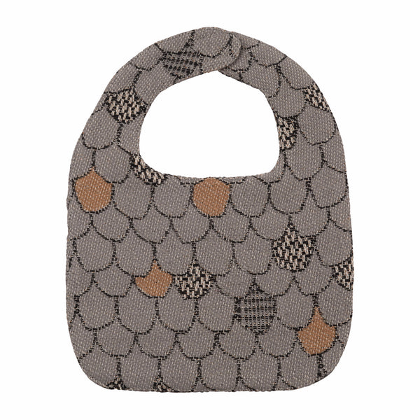Wallop Scallop Grey Baby Bib - Northlight Homestore