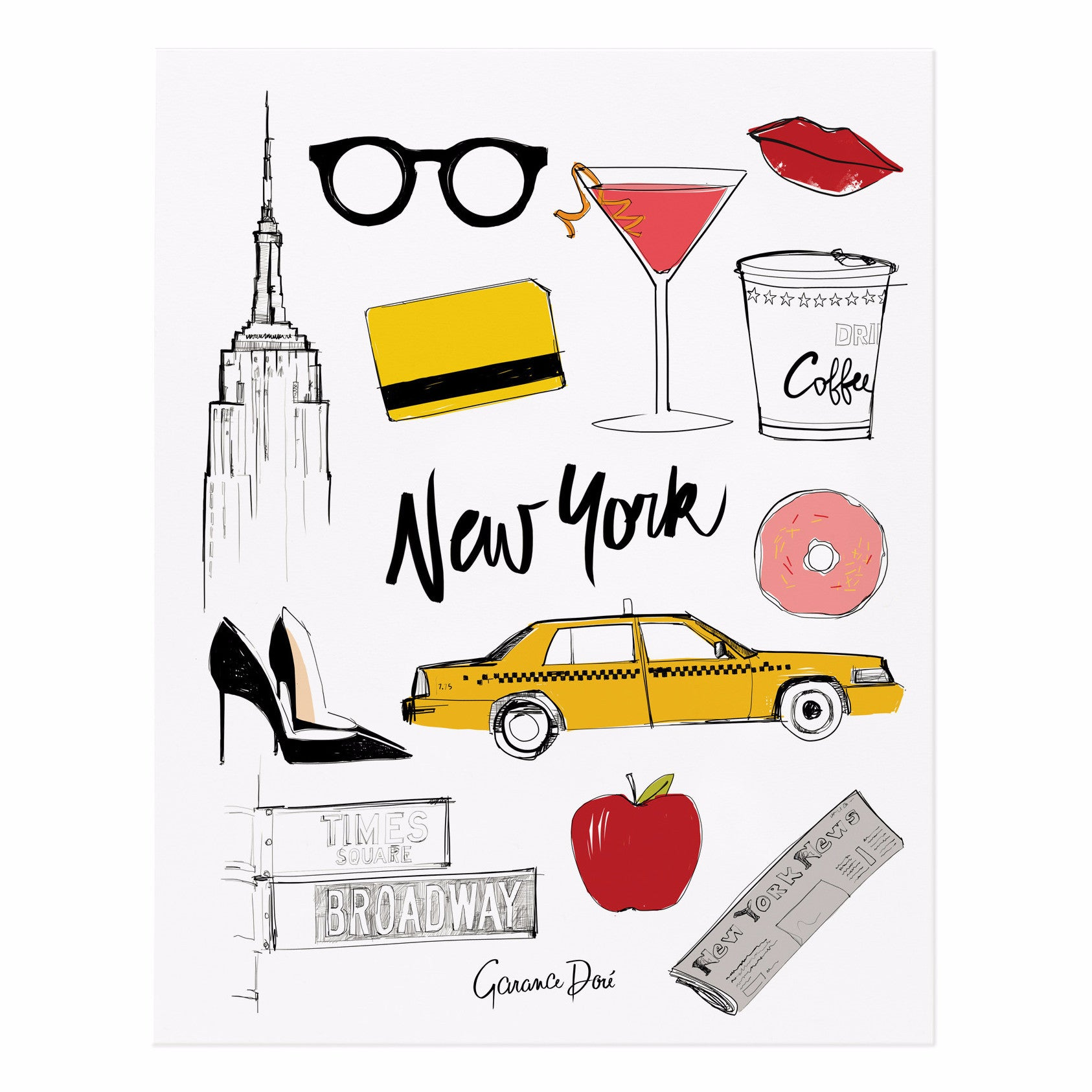 New York 11x14 Art Print - Northlight Homestore
