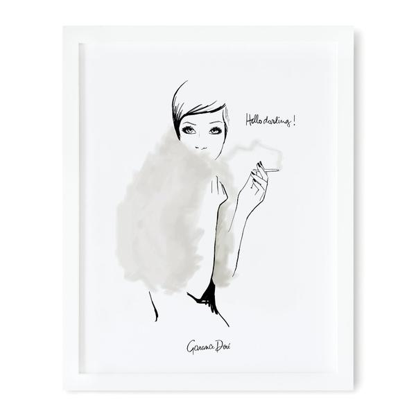 Hello Darling 20x25cm Art Print