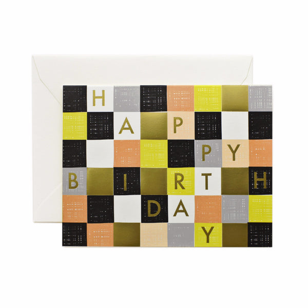 Checkered Birthday Card - Northlight Homestore