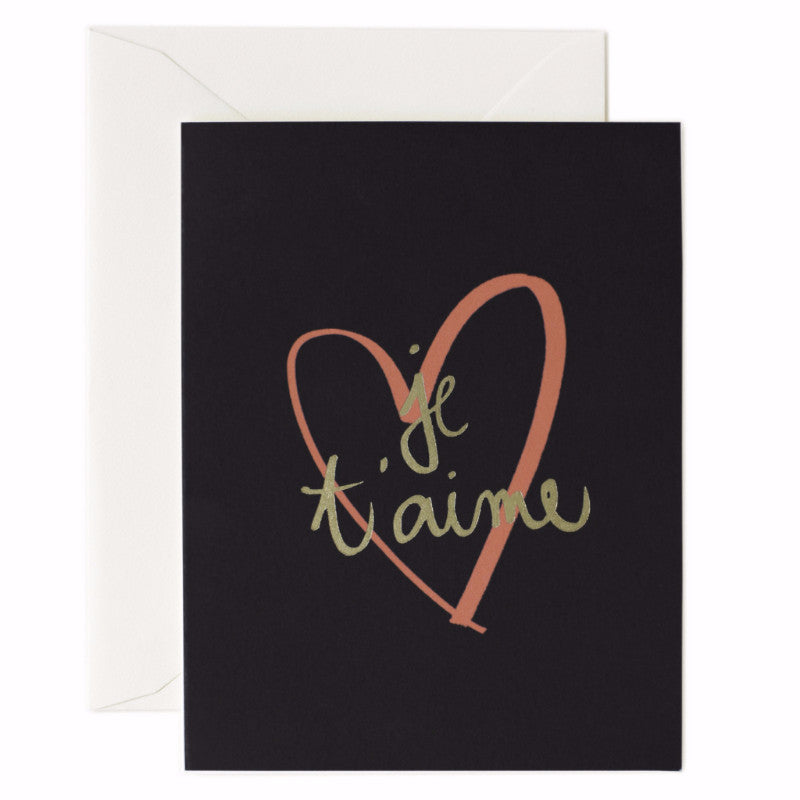 Je T'aime Card - Northlight Homestore