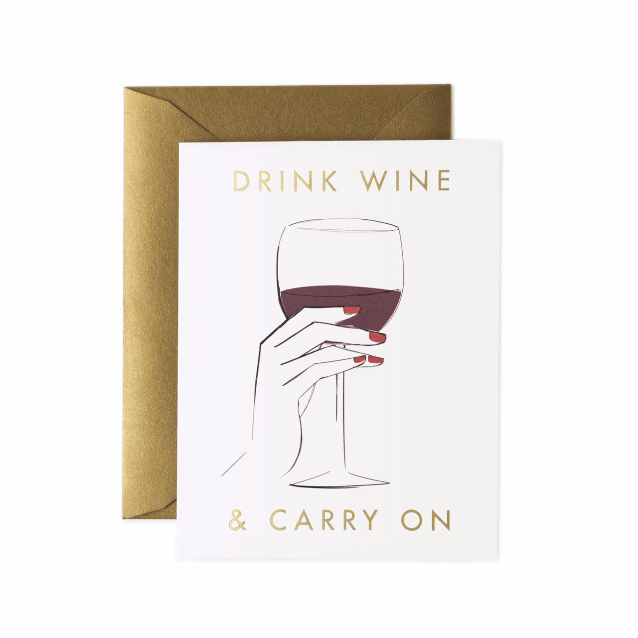Drink Wine and Carry On Card - Northlight Homestore