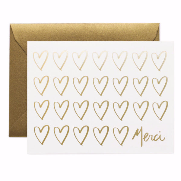Merci Hearts Card Boxed Set - 8 Cards