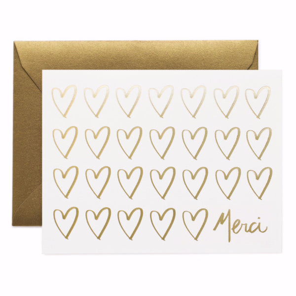 Merci Hearts Card