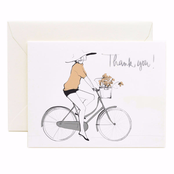 Bicycle Thank You Card - Northlight Homestore