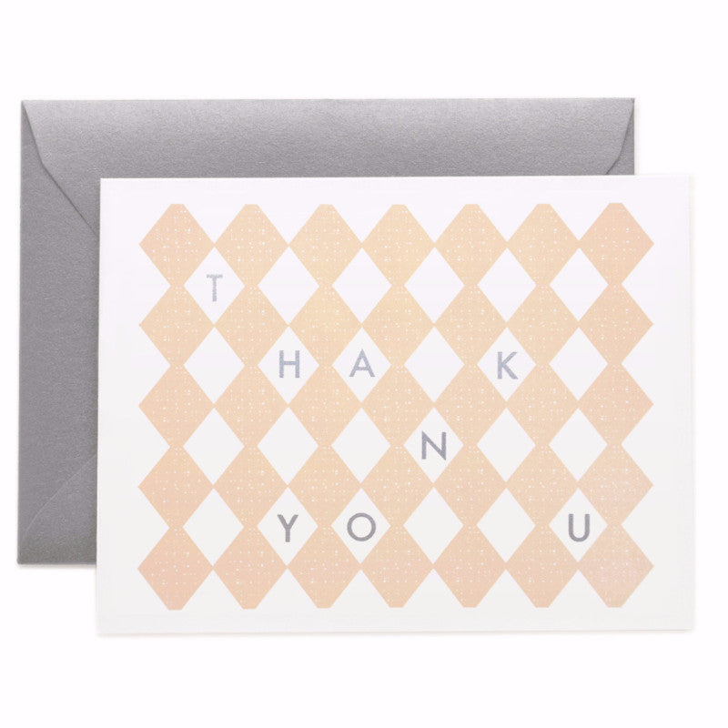 Thank You Blush Card - Northlight Homestore