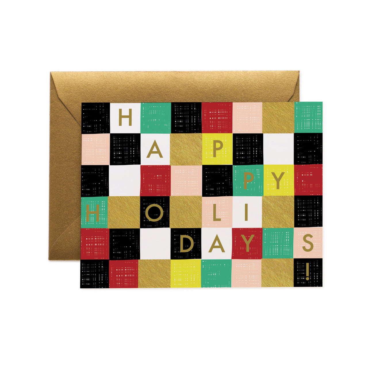 Graphic Happy Holidays Card - Northlight Homestore