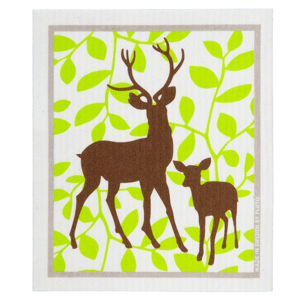 Deer & Kid Dishcloth