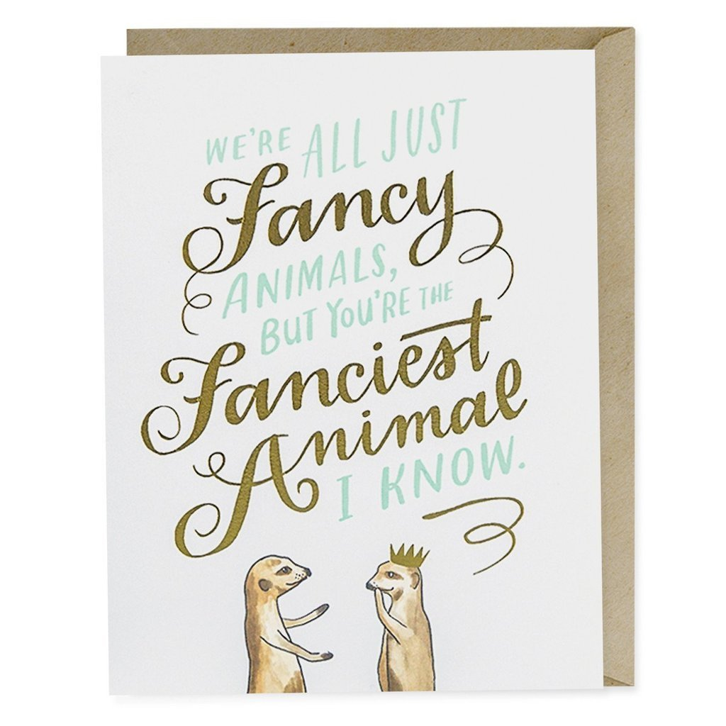 Fancy Animals Card - Northlight Homestore