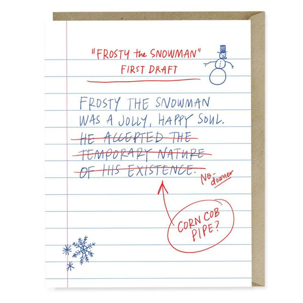 First Draft Lyrics Frosty Card