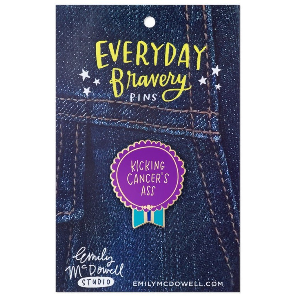 Kicking Cancer's Ass Enamel Pin - Northlight Homestore