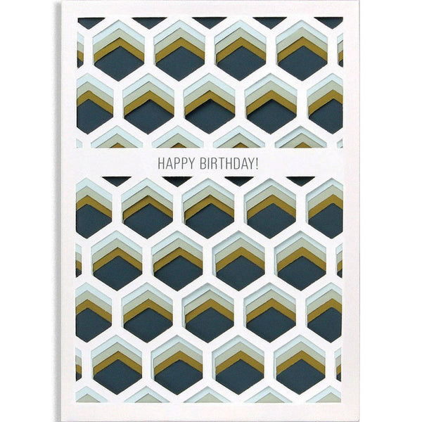 Happy Birthday! Layers Greetings Card