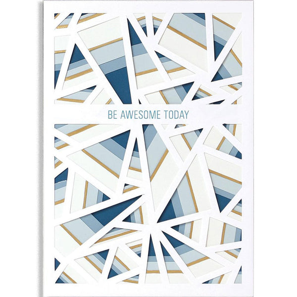 Triangles Layers Greeting Card