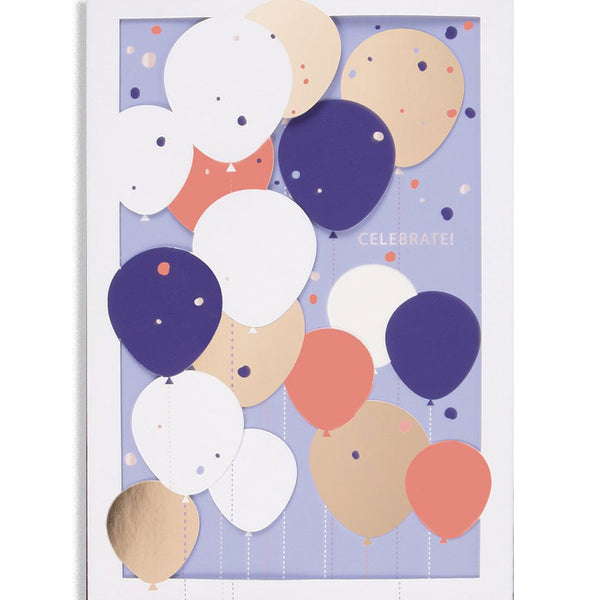Balloons Layers Greeting Card