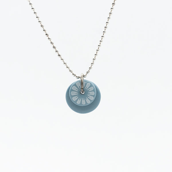 Bloom Petal Blue Pocelain Necklace