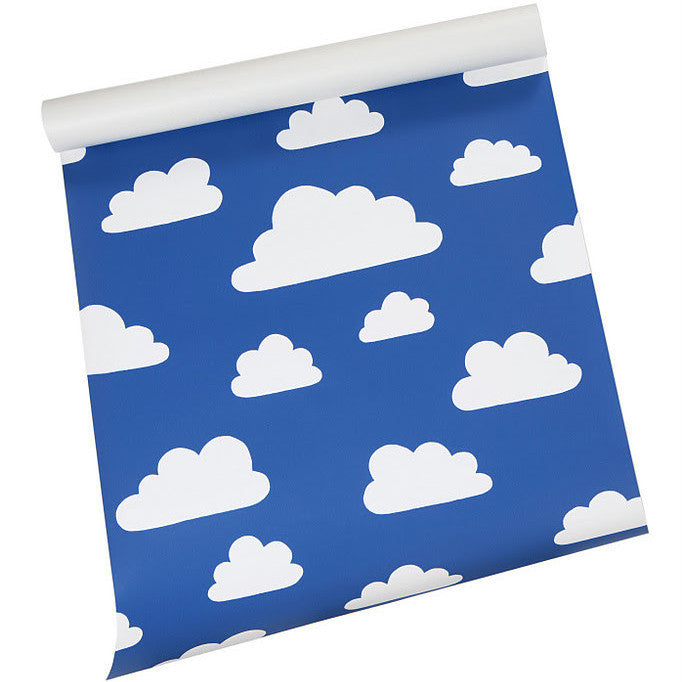 Moln Cloud Blue Wallpaper - Northlight Homestore
