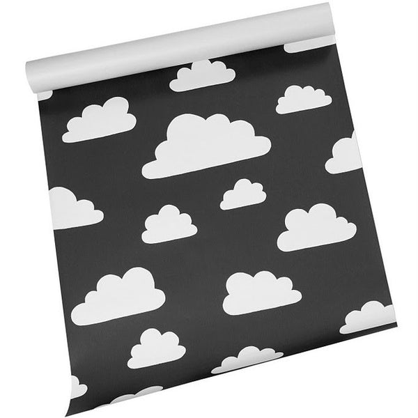 Moln Cloud Black Wallpaper - Northlight Homestore