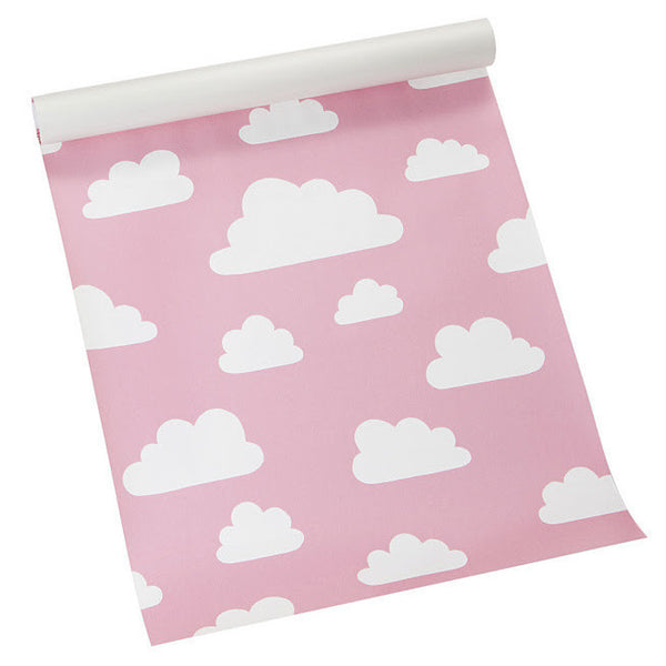 Moln Cloud Pink Wallpaper - Northlight Homestore