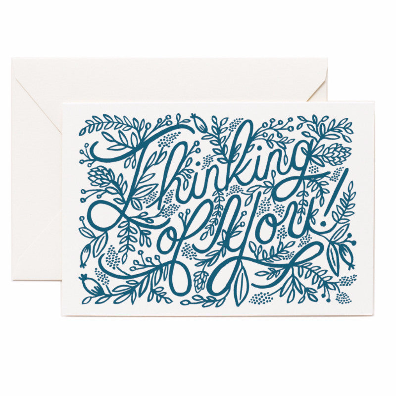 Letterpress Thinking of You Card - Northlight Homestore