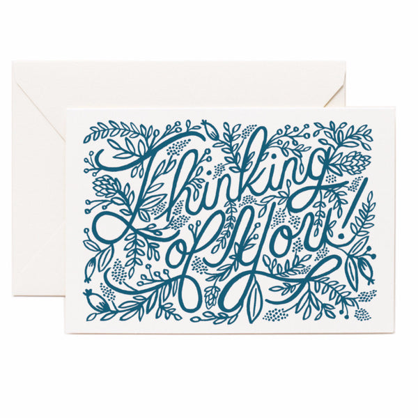 Letterpress Thinking of You Card