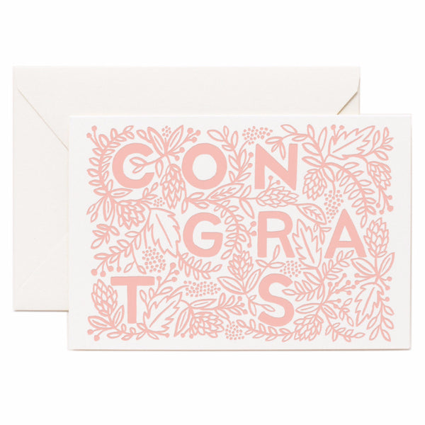 Letterpress Congrats Card - Northlight Homestore