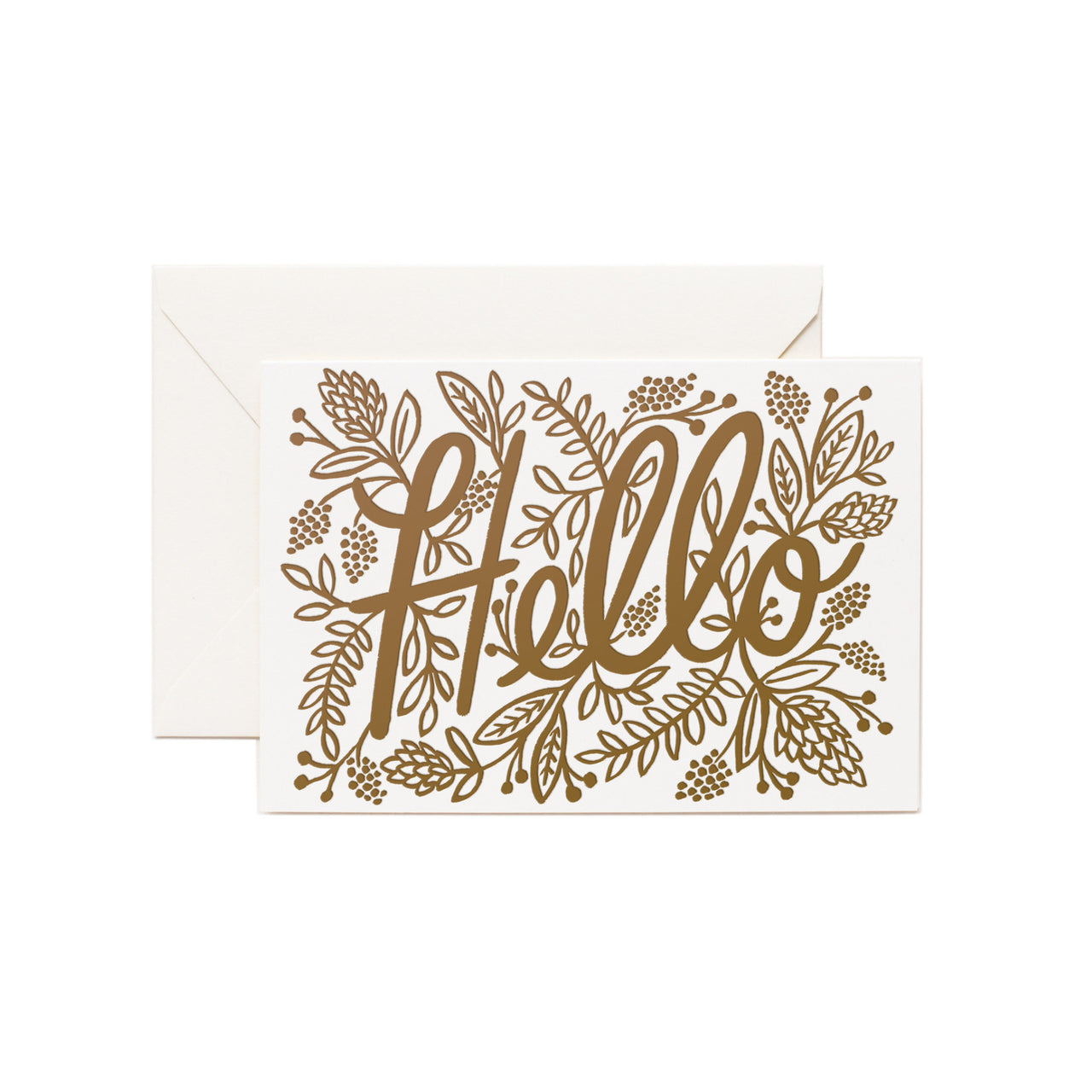 Letterpress Hello Card - Northlight Homestore