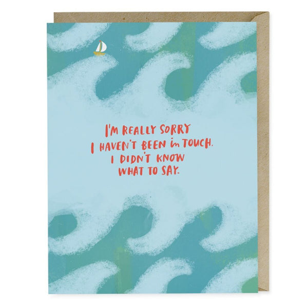 Didn't Know What To Say Empathy Card