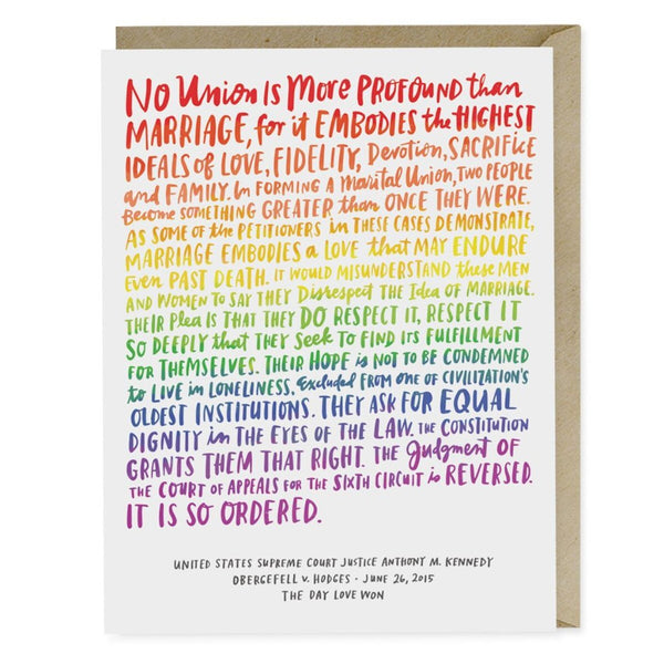 Love Wins Wedding Card - Northlight Homestore