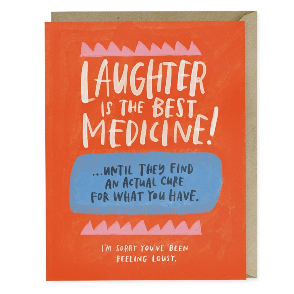Laughter Is The Best Medicine Empathy Card - Northlight Homestore