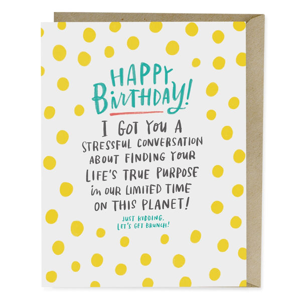 Stressful Conversation Birthday Card