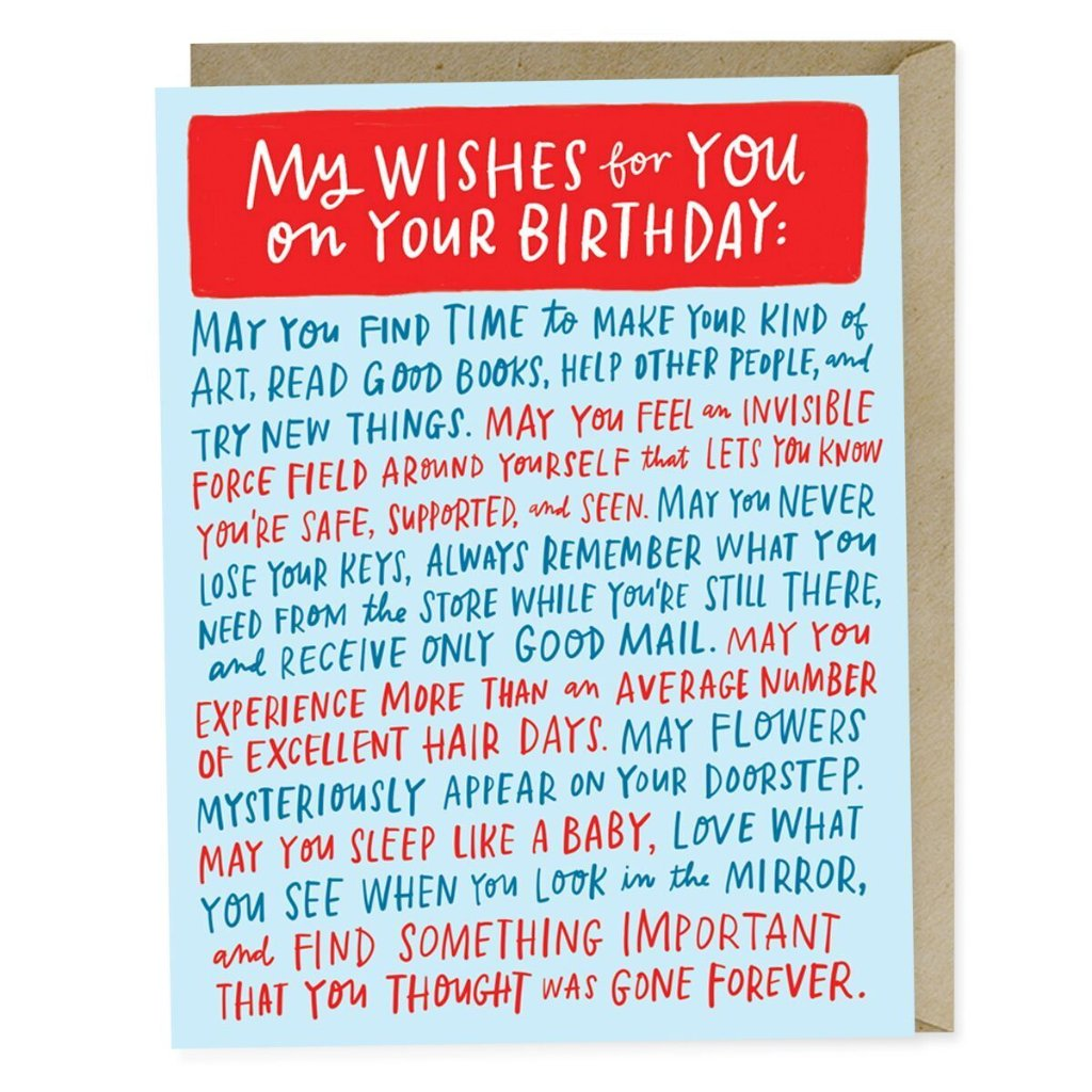 Birthday Dedication Card - Northlight Homestore