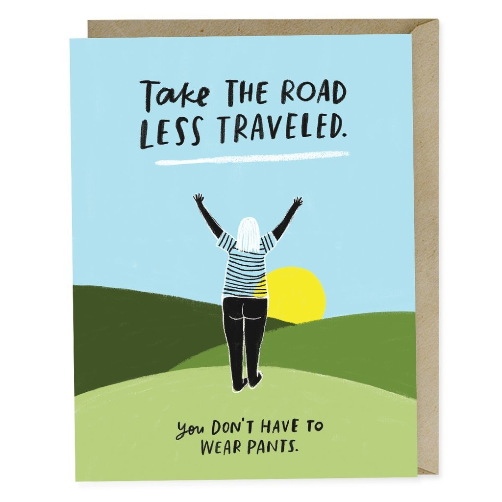 Road Less Traveled Card