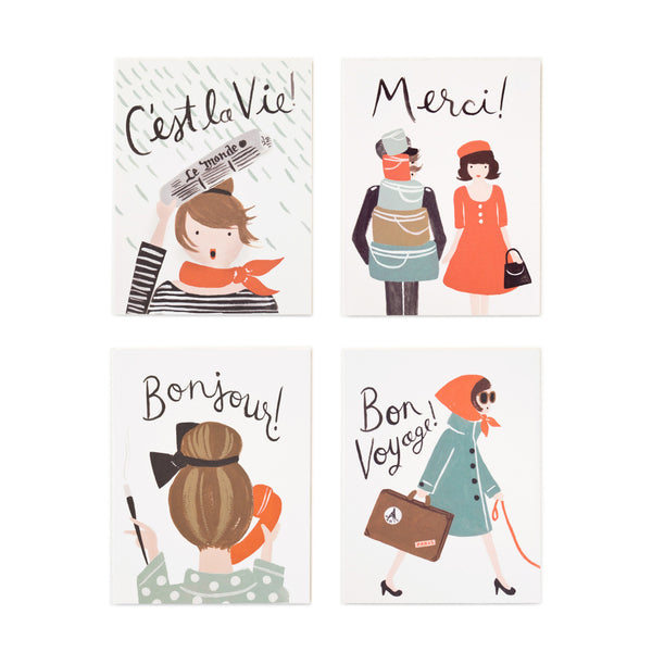 Assorted French Set - 8 Cards - Northlight Homestore