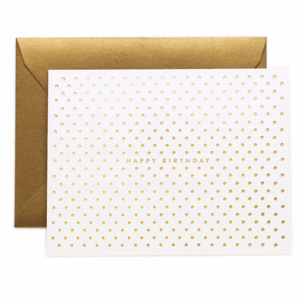 Gold Dots Birthday Card